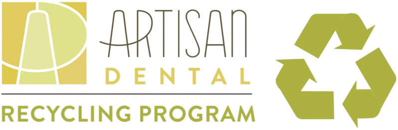 AD Recycling Program showing the concept of Thank you for participating in our Artisan Dental Recycling Program!