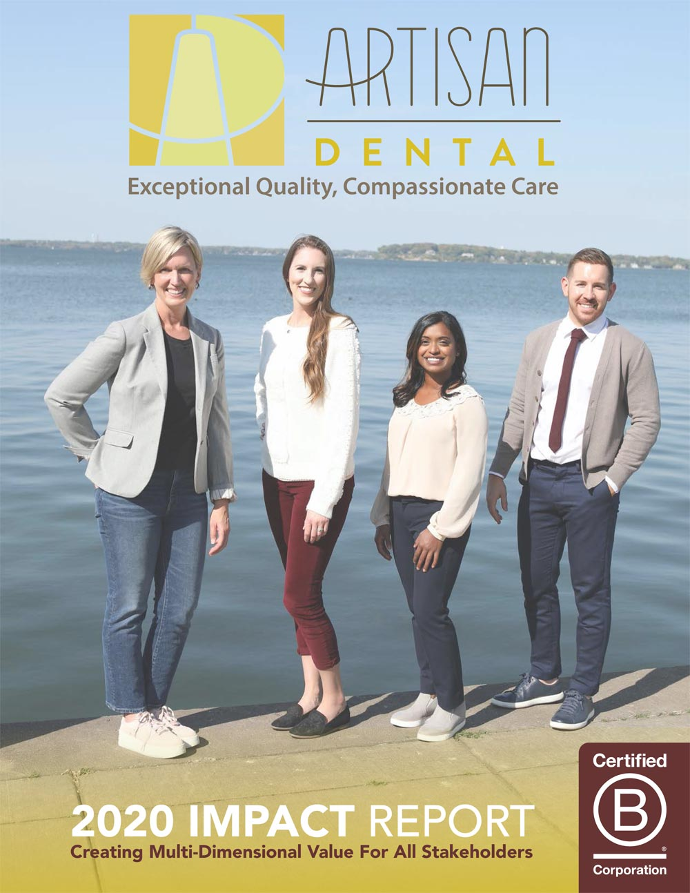 Artisan Dental Impact Report 2020 1 showing the concept of Impact Report